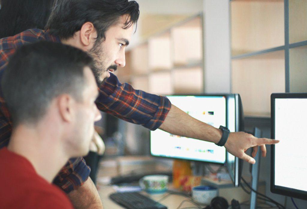 Webdesigners aan het werk